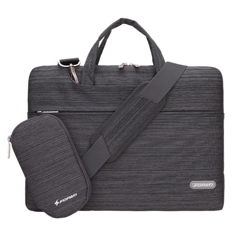 15 inch Laptop Bag Notebook Shoulder Messenger Bag Men Women Handbag Sleeve for Case (Suit Dark Gray)