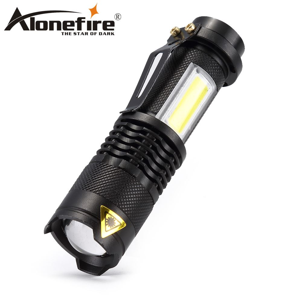 AloneFire 3800LM SK68 COB LED Flashlight Portable Mini ZOOM Torchflashlight Waterproof In Life Lighting Lantern