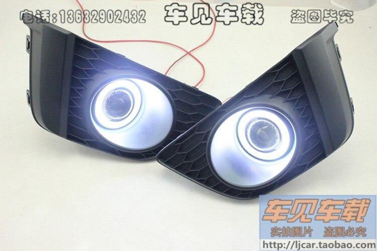 LED DRL дневного света COB Ангел глаз, объектив проектора туман лампы с крышкой для honda, 2 шт., беспроводной swtich