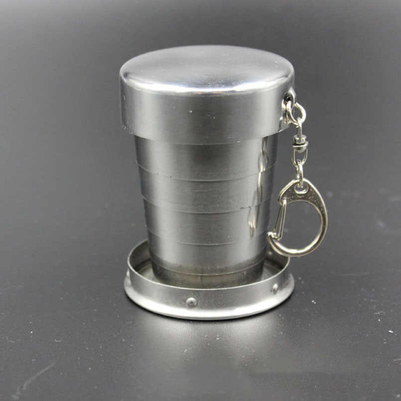 0ae029e2fe 1PC Mini Collapsible 75 150 250ml Alcohol Cup Stainless Steel Portable  Outdoor Wine Cup