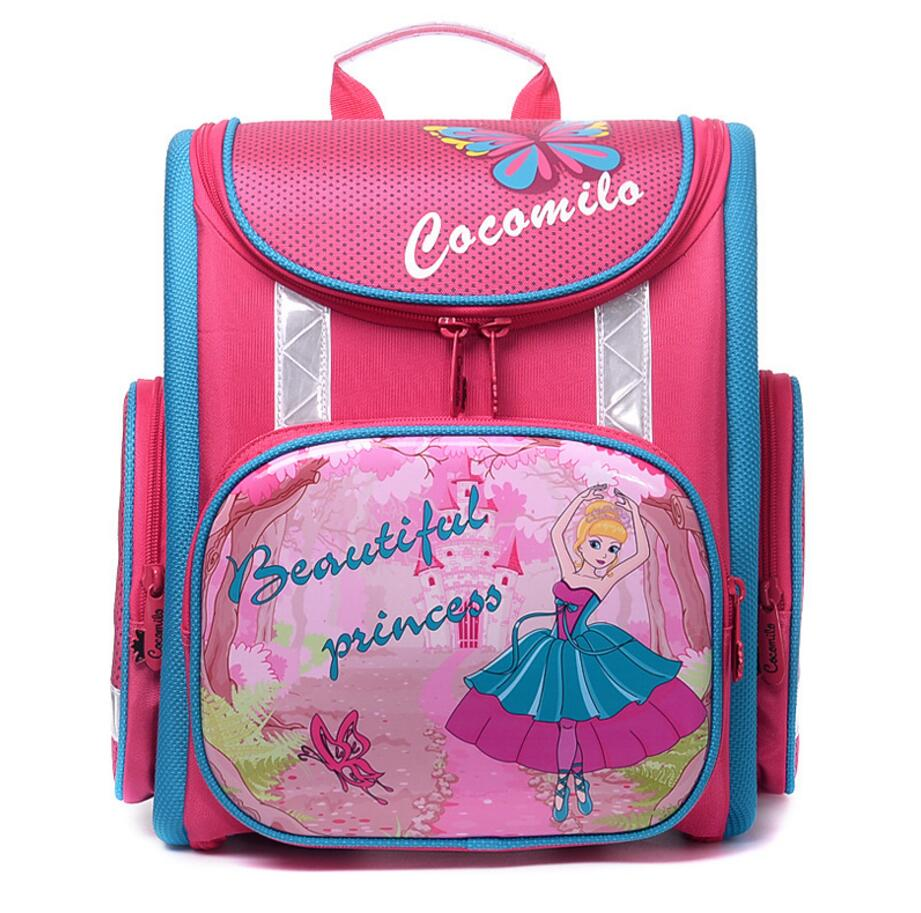 Delune School Bags For Children Backpack Top Quality 2017 Print Car Cat Princess Girls School Bags Primary School Boys Backpacks цена и фото