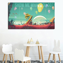 цена на Rick And Morty Show Me What You Got Wall Art Canvas Posters Prints Painting Oil Wall Pictures For Living Room Modern Home Decor