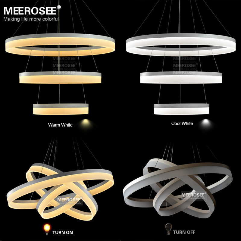 Multi Rings Led Pendant Light Modern Ring Acrylic Suspension Lamp Aluminum Drop Md5060 Lighting Fixture In Lights From