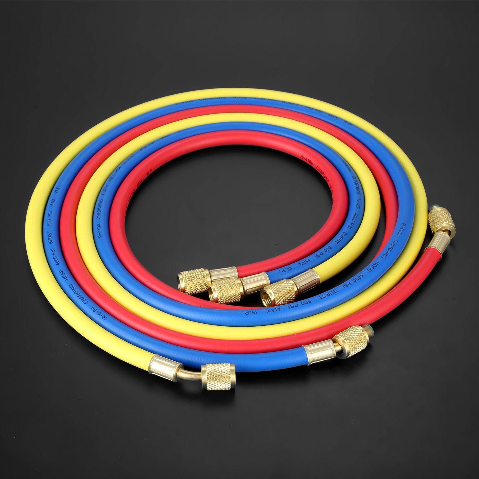 "Image 2 - 3Pcs 60"" HVAC 1/4"" SAE R410a R134a AC Refrigeration Permutation Charging Hoses HVAC 800PSI Air Conditioning Hose Mayitr 150cm-in Air-conditioning Installation from Automobiles & Motorcycles"