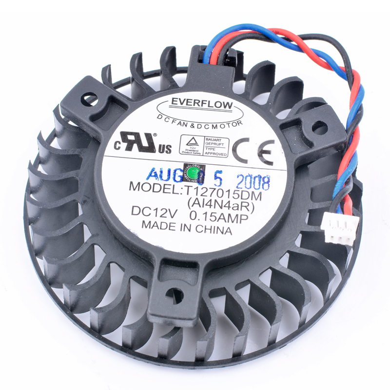 Brand new original Asus player country <font><b>9600GT</b></font> T127015DM 12V 0.15A graphics card cooling <font><b>fan</b></font> image
