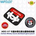 Accesorios del coche de Mickey mouse de la historieta rojo y negro bolsa WDC-117 envío gratuito