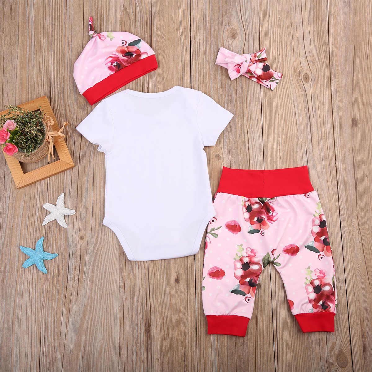 Yenidoğan Bebek Kız Değer Bel Romper Tops Pantolon Çiçek Gelen Ev Kıyafetler
