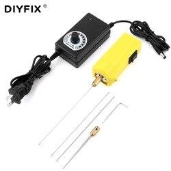 Diyfix removedor de cola elétrica do telefone móvel lcd tela de toque loca oca cola removendo ferramentas limpas conjunto com regulador de velocidade