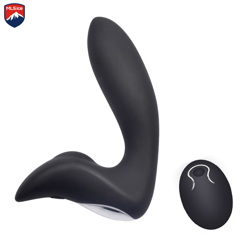 MLSice USB Recharge Remote Control Male Prostate Massage Butt Plug G-Spot Gay Prostata Massager Vibrator for Men Anal Sex Toys new remote control prostate massager usb charging gay butt plug anal vibrator sex toys for men anal prostata