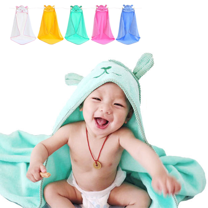 Cotton Newborn Baby Towels Kids Breathable Boy Girl Blanket Winter Soft Baby Towels Cartoon Animal Hooded Square Bath Towels Lot