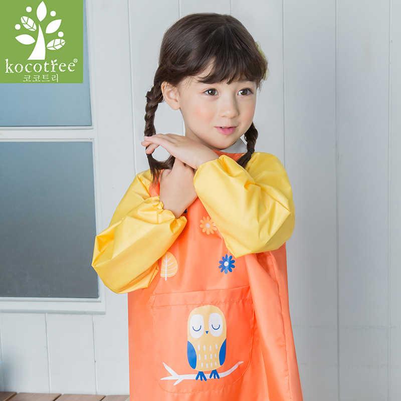 การ์ตูนสัตว์เด็กทารกT Oddersกันน้ำแขนยาวภาพวาดเปื้อนผ้ากันเปื้อนผ้ากันเปื้อนให้อาหารผ้าฝ้ายBaberos Bavoirเสื้อผ้า