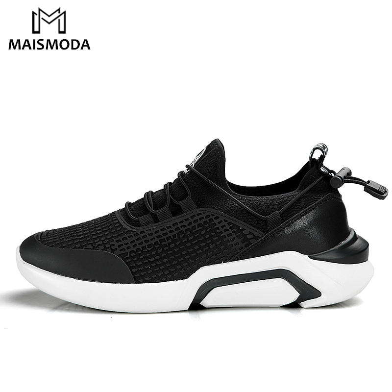 MAISMODA 2018 Running Shoes For Man Black Breathable Mesh Men Sneakers Lightweight Sport ...