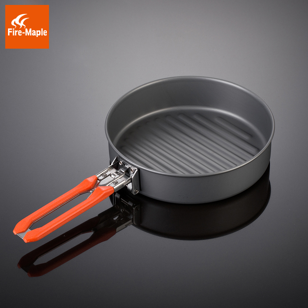Fire Maple Feast 3 Outdoor Camping Hiking Cookware Backpacking Cooking Picnic Pot Pan Set Foldable Handle 2 Pots 1 Frypan FMC F3 in Outdoor Tablewares from Sports Entertainment