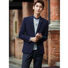 Formal occasions men business jacket high quality latest style wedding the groom suit two grain of buckle warm winter suit