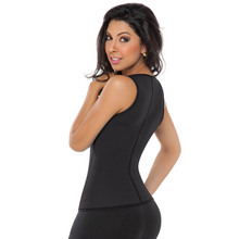 Black Plus Size Ladies Thermal Women Hot Body Shaper Vest Slimming Women's Neoprene Vest L42659-3