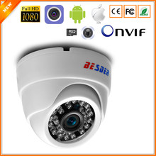 BESDER Wide Angle 2.8mm IP Camera Wireless Audio 1080P Indoor Dome Security Wi-Fi IP Camera With SD Card Slot ONVIF RTSP FTP