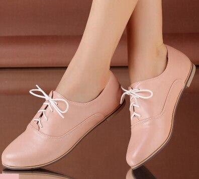 f14cde6d241 Nuevo 2016 mujeres pisos pisos zapatos mujer primavera con cordones para  mujer de los zapatos planos femeninos 4 colores oxford zapatos para mujeres  tamaño ...