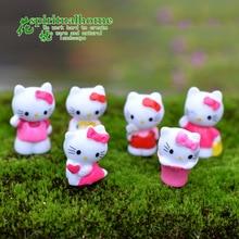 Free Shipping 7pcs/Set 1.8X2.5CM Hello Kitty PVC Action Figure Hello Kitty Cartoon Figures Kitty Toys For Kids