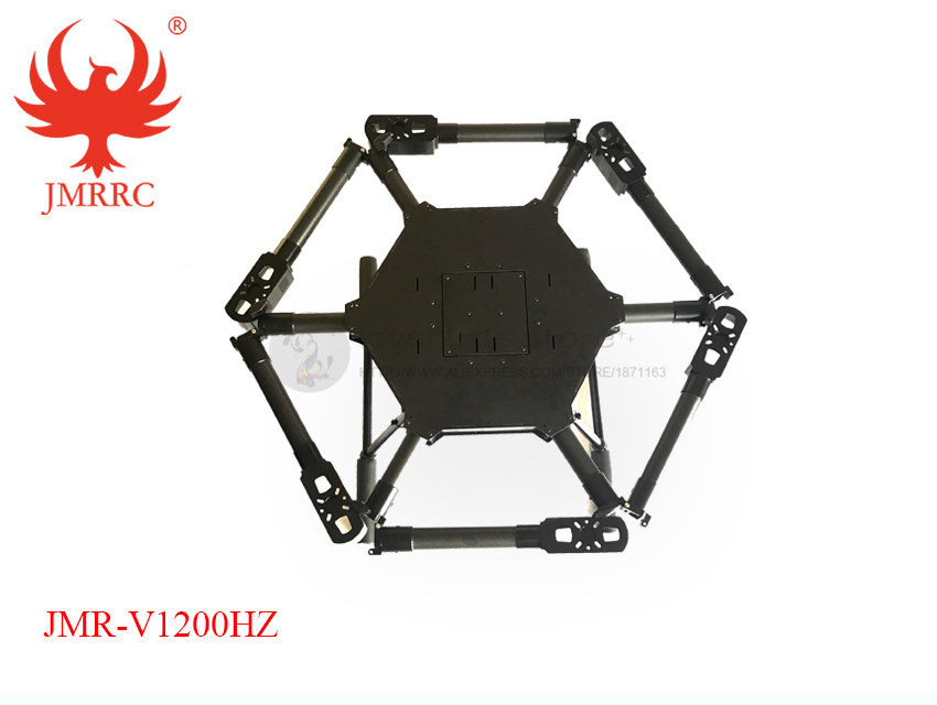 DIY JMR-V1200HZ 10L Agricultural spraying hexacopte drone 1200mm annular folding pure carbon fiber frame + landing + 10L tank tp760 765 hz d7 0 1221a