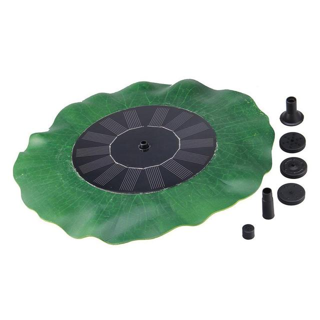 Water Lily Leaf Style Solar Garden Fountain