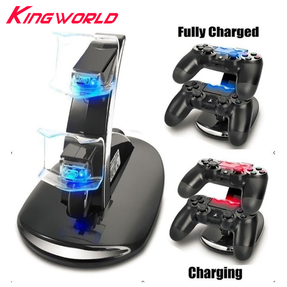 Dual Controller Holder Charger 2 LED Micro USB Charging Dock Station Stand for PS4 Playstation Controller Game Console