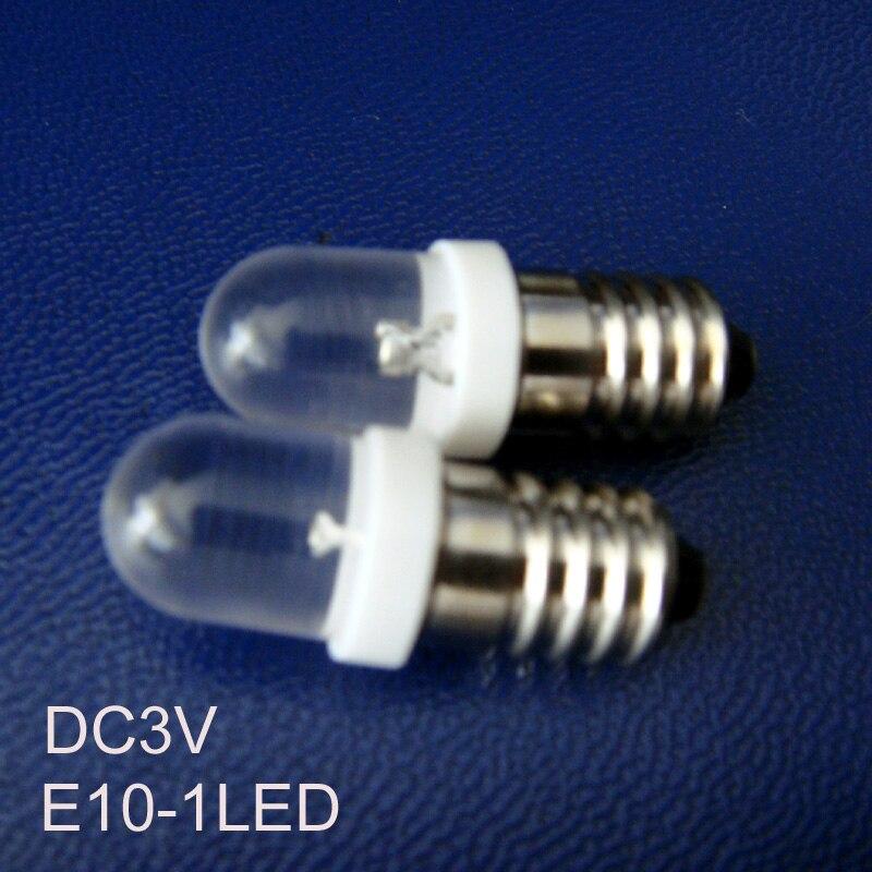 High quality DC3V E10 led Signal lights,E10 LED Indicator Light 3v led E10 lights bulbs lamps LED E10 free shipping 50pcs/lot dc 12v pt1 16 thread red pilot lamps indicator signal light 5pcs