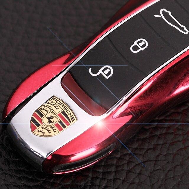 13 цвет БРЕЛОК Дистанционного Ключа Дело Обложка для Porsche для boxster для cayman 911 для Panamera для Cayenne для Макан