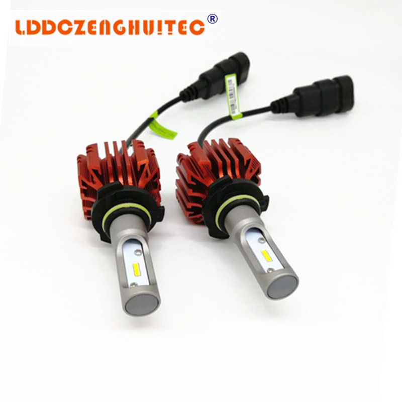 LDDCZENGHUITEC H4 H7 H11 HB2 9003 Led Auto Car Headlight S1 N1 50W 8000LM 6000K Automobile Bulb All In One CSP Lumileds Lamp