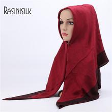Малайский квадратный платок для головы мусульманский хлопчатобумажный