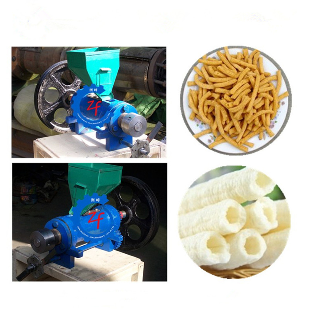 Good quality corn, rice ,millet puffed food making extrusion machine food puffing machine with cutting pop crutch ice cream puffed machine 20 kg h capacity corn puffing machine