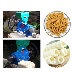 Good quality corn, rice ,millet puffed food making extrusion machine food puffing machine with cutting