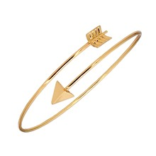 Simple Hot Fashion Silver Color Arrow Design Gold Bangles Adjustable Opening Charm Love Couple Bracelets for Women Men Jewelry(China)