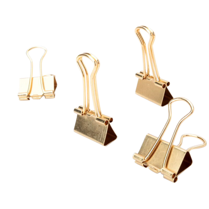 Gold Binder Clips Dovetail Metal Clip Storage Products Metal Binder Clip