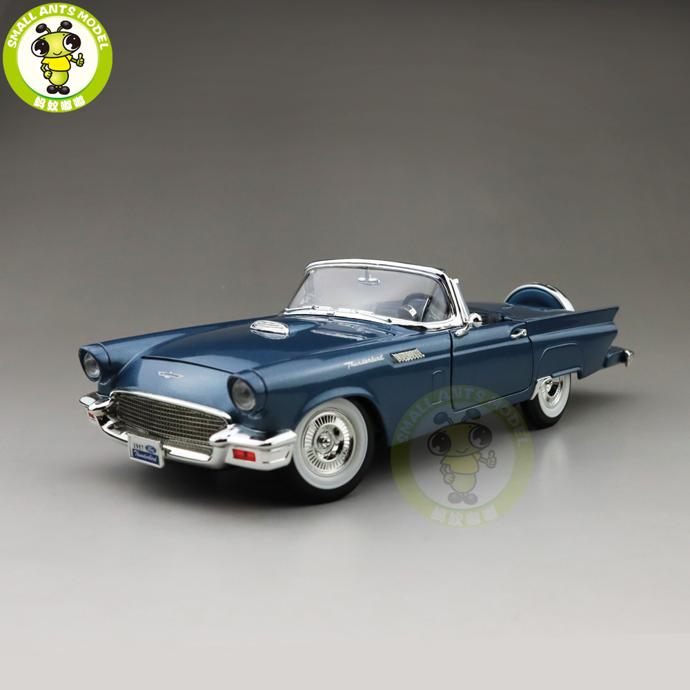 1/18 1957 Ford THUNDERBIRD Road Signature Diecast Model Car Toys Boys Girls Gift