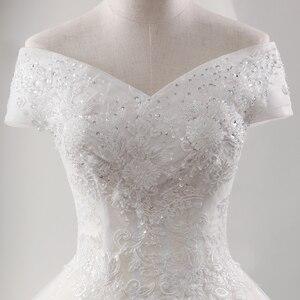 Image 4 - Fansmile yeni lüks Vintage kaliteli dantel düğün elbisesi 2020 balo prenses gelin gelinlikler Vestido De Noiva FSM 557F