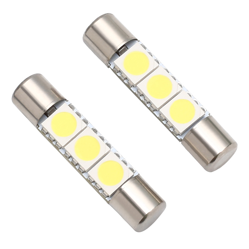 2Pcs SV6 5 Super Bright 29MM 6 5MM SMD 5050 LED Car Auto Interior Festoon Vanity Mirror Sun Visor Lights Bulb Lamp DC 12V in Signal Lamp from Automobiles Motorcycles