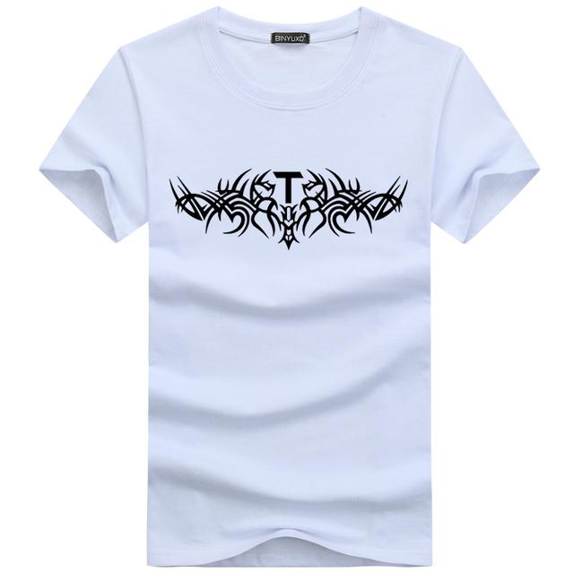 BINYUXD Hot sale Discount new fashion summer t shirt men o-neck cotton comfortable 3d t-shirt Casual shirt Short sleeve