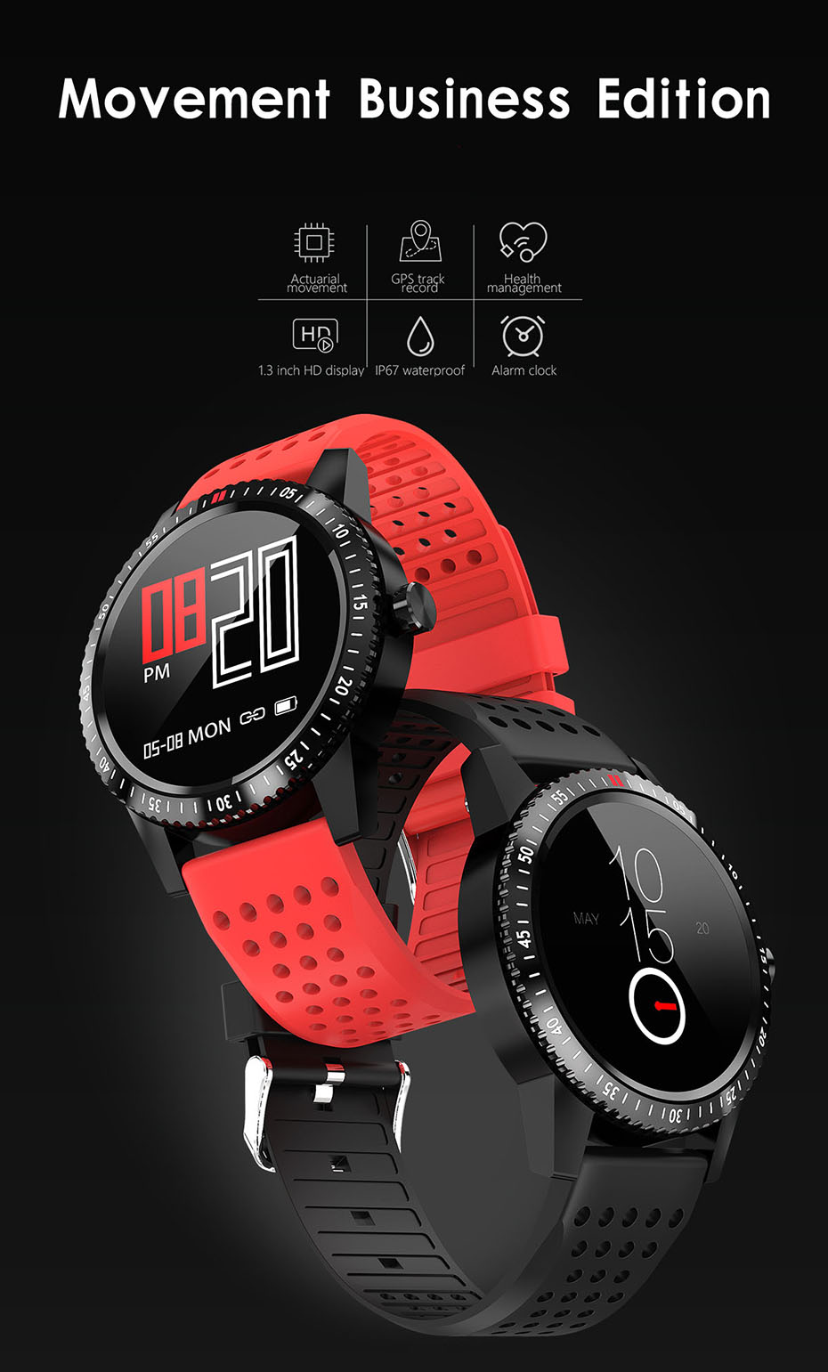 COLMI Smartwatch IP67 Waterproof Wearable Device Heart Rate Monitor Color Display Smart Watch For Android IOS_01