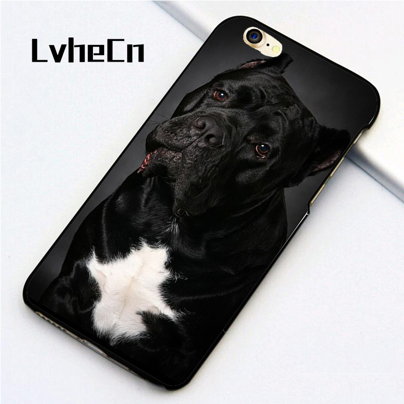 LvheCn 5 5S SE phone cover cases for iphone 6 6S 7 8 Plus X back skin shell Cane Corso D ...