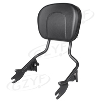New Passenger Sissy Bar Backrest For Touring Street Glide Road King 2008 2016