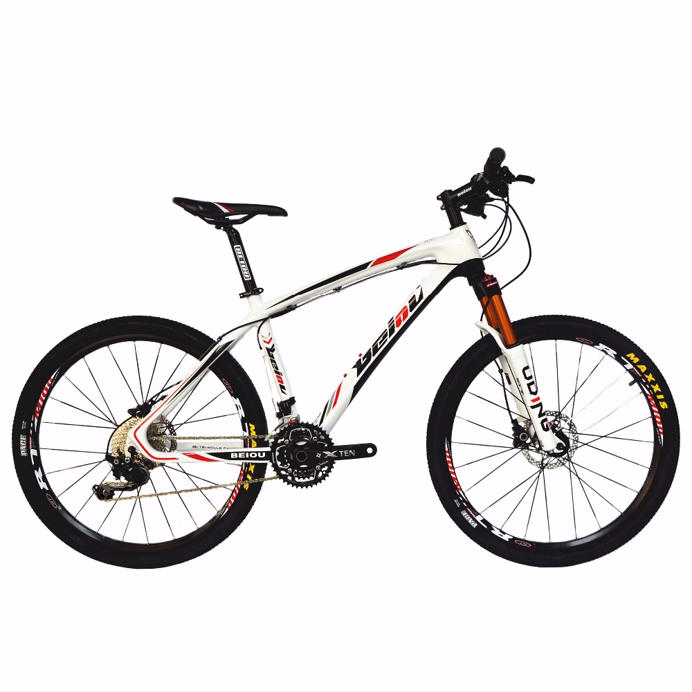 BEIOU Carbon 26-Inch Mountain Bike Hardtail Trail Bicycle 30 Speed S H I M A N O M610 DEORE MTB 10.8 kg colorful CB005