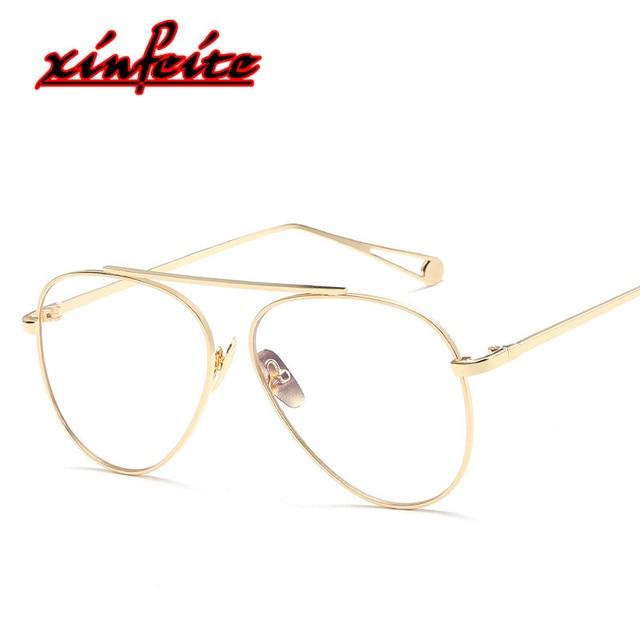 1563a8baea 2018 Fake Men Pilot Glasses Anti Blue Light Eye Glasses Defence Radiation  Computer Sunwear Frame For Women Male Oculos Gozluk HD