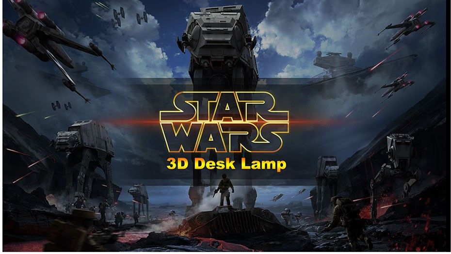 Star was Series Led 3D Night Light 5 light colors available  (1)