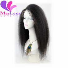 Top Quality Yaki Straight Lace Front Wig Yaki Straight Virgin Brazilian Lace Front Human Hair Lace Front Wigs for Black Women
