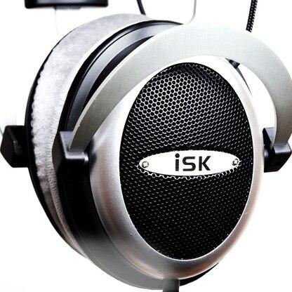 Original ISK HF2010 Semi-open Monitor Headphones HiFi Stereo Earphone Studio Recording Audio Headset Noise Canceling Headphones