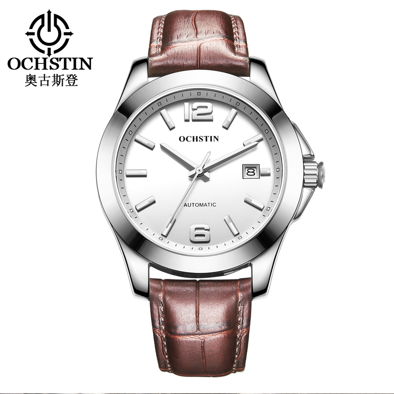 OCHSTIN Mens Self-wind Automatic Mechanical Watch Gentleman Genuine Leather Strap Military Clock Waterproof Relogio MasculinoOCHSTIN Mens Self-wind Automatic Mechanical Watch Gentleman Genuine Leather Strap Military Clock Waterproof Relogio Masculino