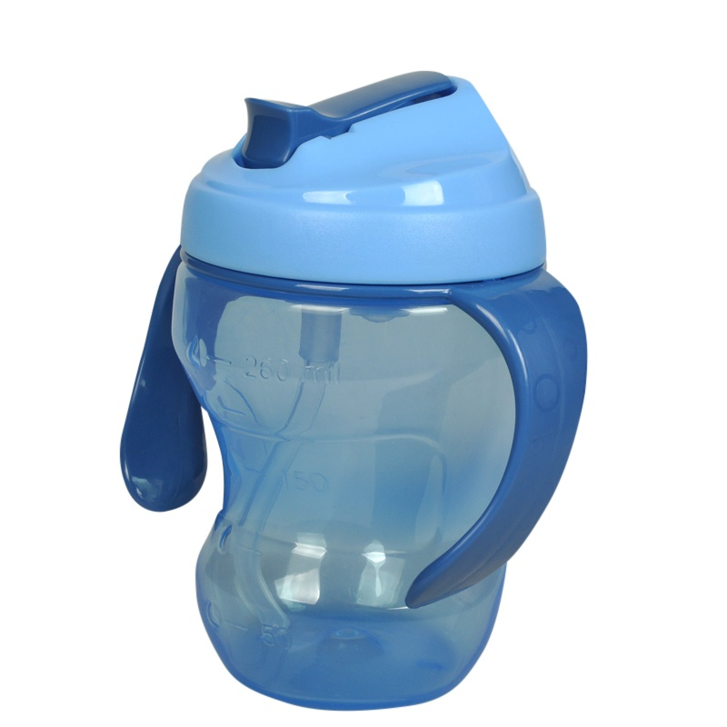 2017 Brand New Leak Proof Cup Baby Infant Straw Kettle Cup PP Material Bottle Children Baby 260ml High Quality