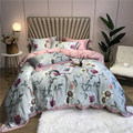 Ropa de cama Tencel Seide 4 Pcs KÖNIG KÖNIGIN GRÖßE Bettwäsche Set Luxus Bettdecke Abdeckung bettlaken Ausgestattet blatt Bettwäsche dekbedovertrek
