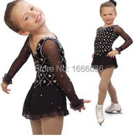 2016 Hot Sales Figure Ice Skating Dresses For Girls New Brand Vogue Figure Skating Competition Customized Dress DR2978