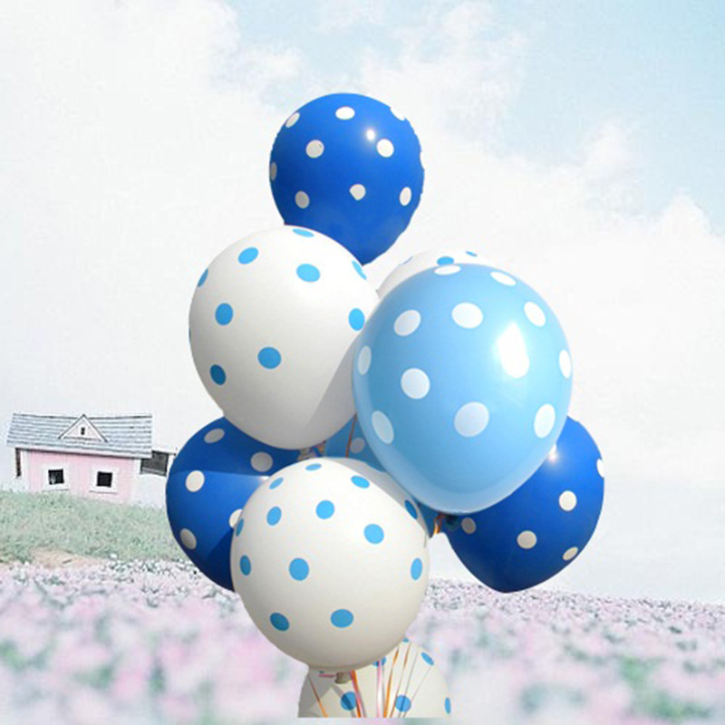 100pcs/lot Dot Latex Balloons Inflatable Wedding Decorations Air Ball Happy Birthday Party Supplies Round Balloon